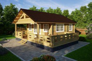 Строительство дачного дома из мини-бруса